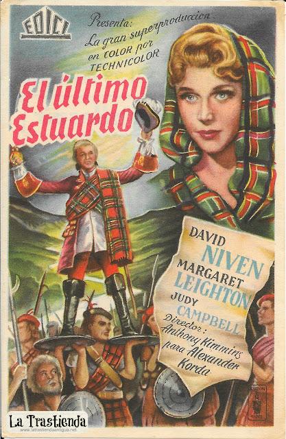 El Ultimo Estuardo - Programa de Cine - David Niven - Margaret Leighton