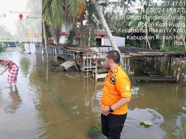 Basarnas Pekanbaru Terus Melakukan Pemantauan Banjir Di Kabupaten Rohul