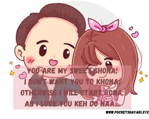 Cute funny shayari