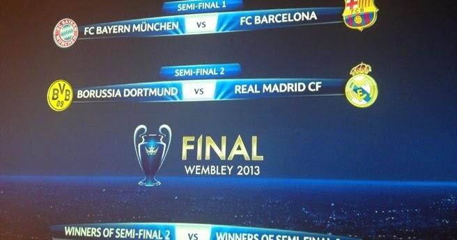 """Sorteo Champion League Gallery: El """"Sorteo"""" De Las Semifinales De La Champions League 2013"""