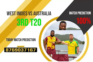 3rd T20 Match : WI vs AUS 100% Sure Today Match Prediction Tips