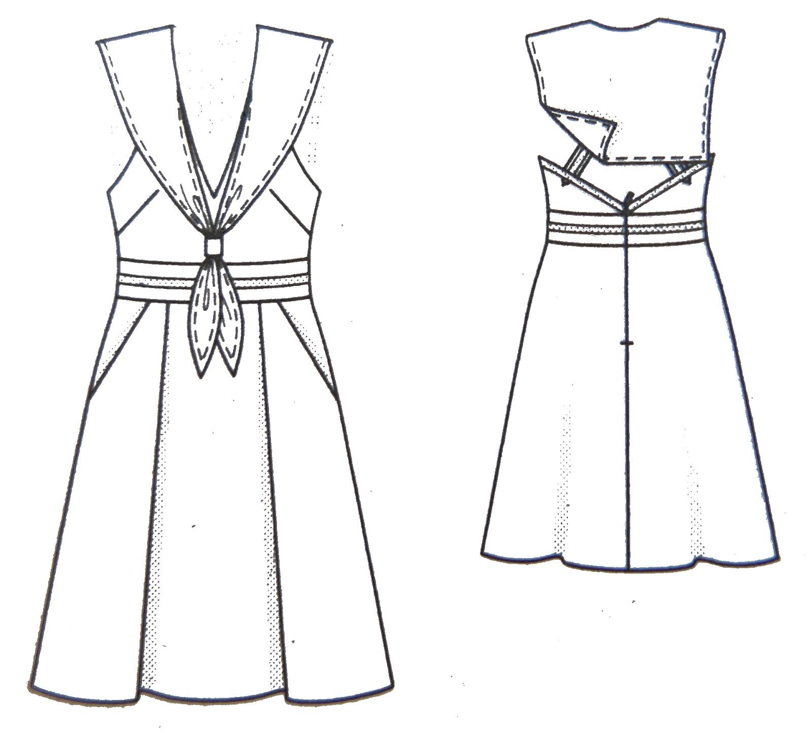 Vestido marinero Burda Style ~ Moda en la Costura