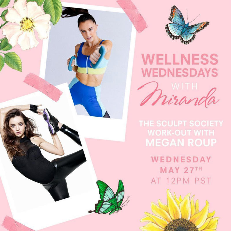 Miranda Kerr featured in a Fitness Program