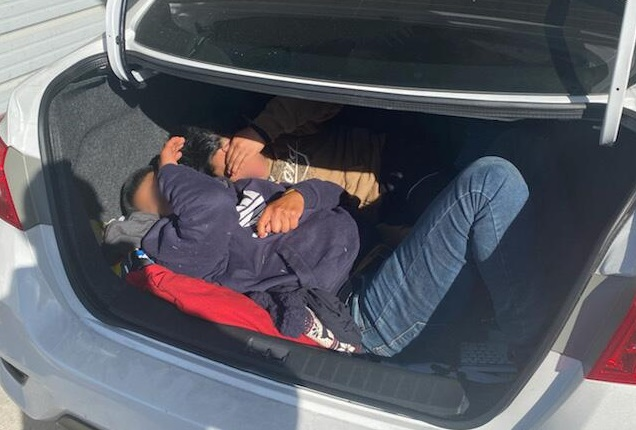 2 Illegal Aliens Found Hiding in Trunk at Immigration Checkpoint