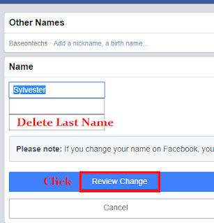Use Single name on Facebook