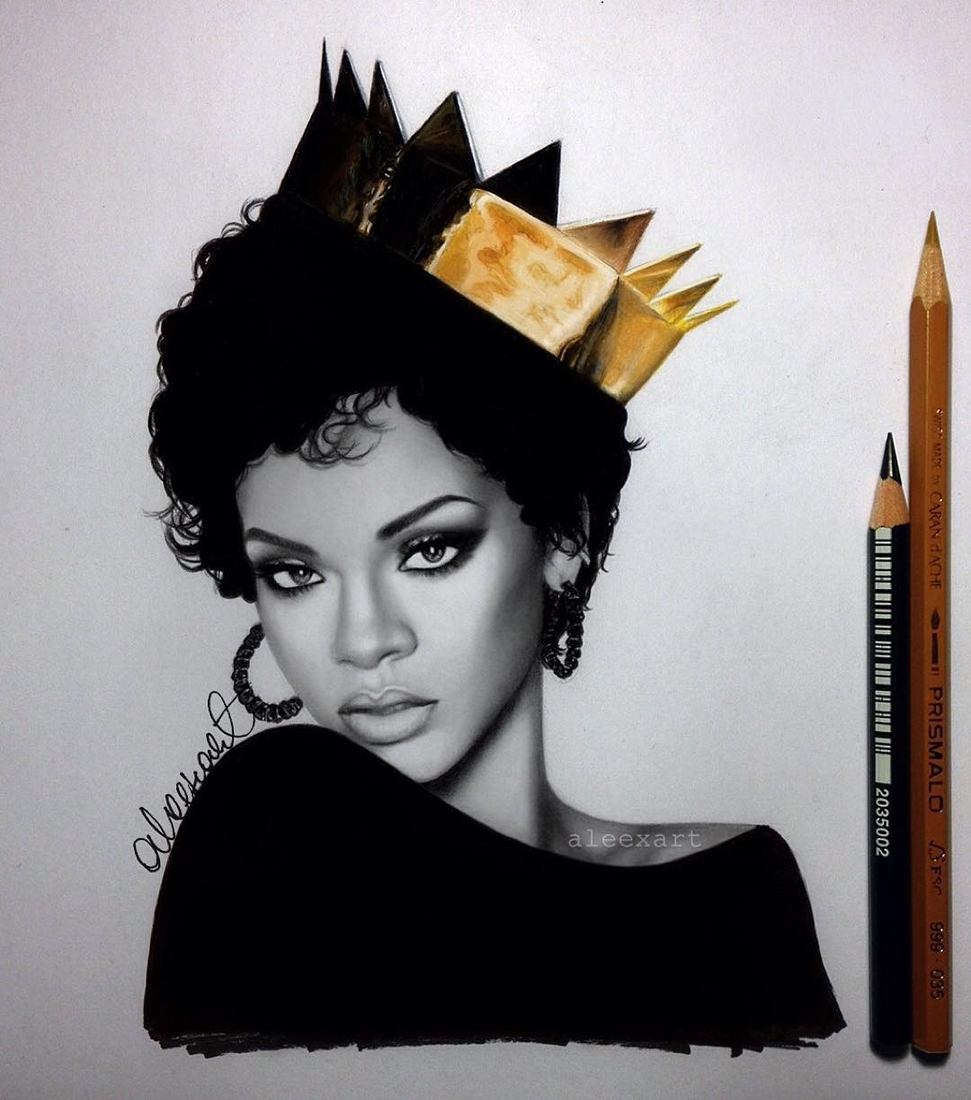 05-Rihanna-Alex-Manole-Black-and-White-Hyper-Realistic-Portraits-of-Celebrities-www-designstack-co