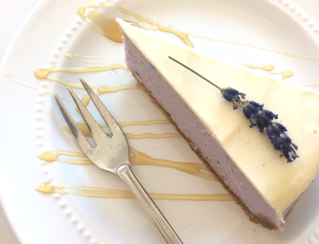 Honey Lavender Cheesecake #dessert #recipes