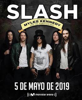 Concierto de SLASH + Myles Kennedy en Bogotá 2019