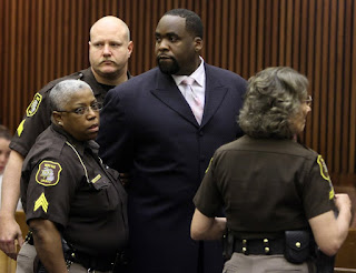 What detroit mayor was Kwame Kilpatrick jailed for