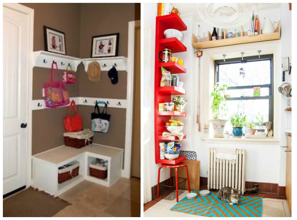 16 ideas para aprovechar y decorar las esquinas de la