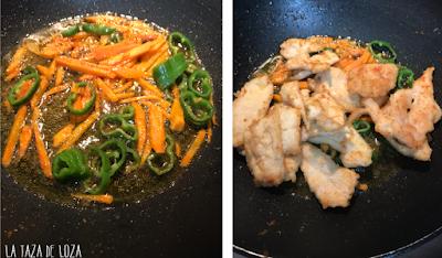 Preparación-de-verduras-para-pollo-teriyaki