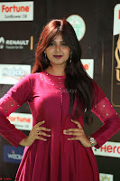 Monal Gajjar in Maroon Gown Stunning Cute Beauty at IIFA Utsavam Awards 2017i 005.JPG