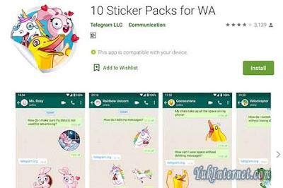 10 packs sticker for wa
