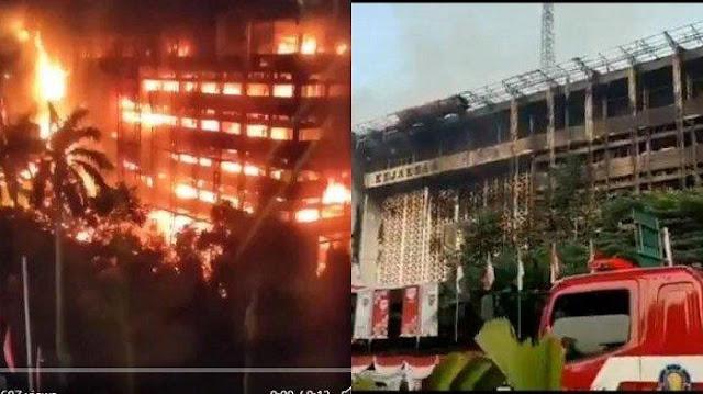 Gedung Kejagung RI Tebakar Bukan Karena Hubungan Pendek Arus Listrik, Tapi karena Open Flame