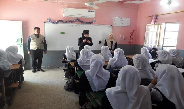 مدارس تربية البصرة تشهد القاء محاضرات حول الابتزاز الالكتروني للحفاظ على سلامة طلابها.