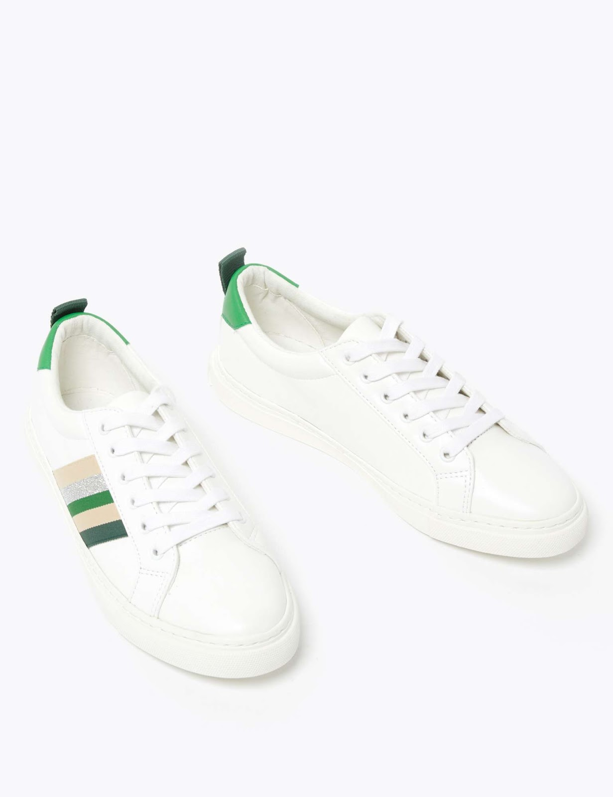 Marks and Spencer ribbon detail lace up trainers