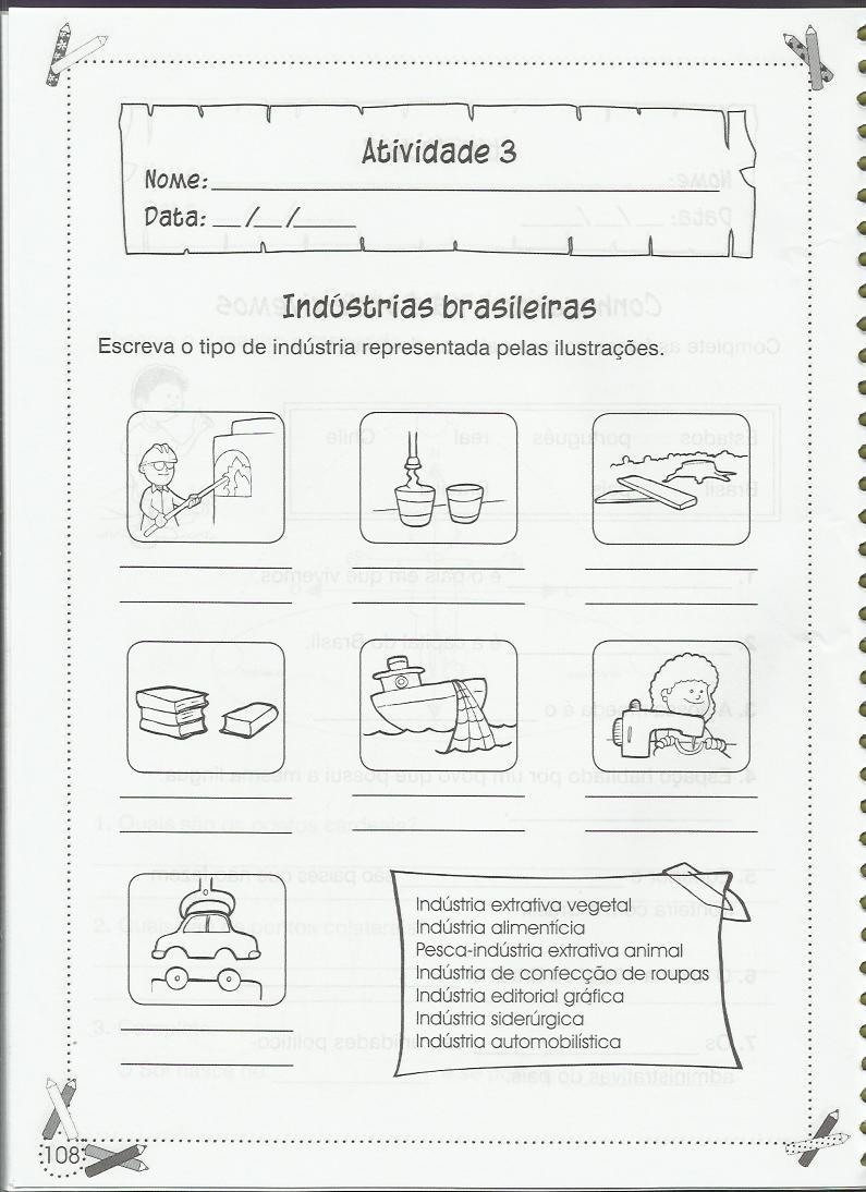 Estudos do Meio: a Indústrias Brasileiras - Atividades