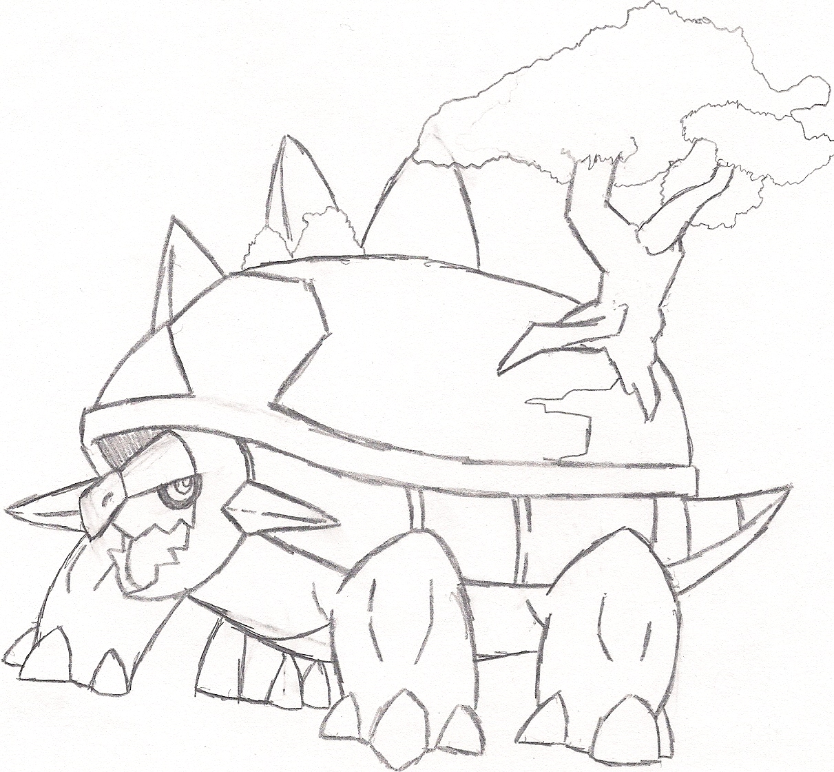 torterra coloring pages-#22