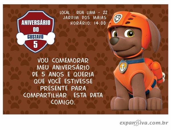 Convite da Patrulha Canina