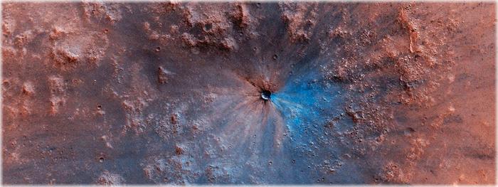 meteorito atinge marte
