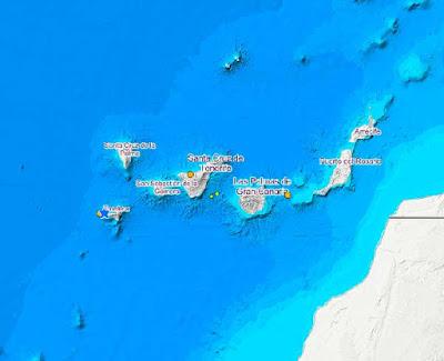 Se registran terremotos en el Atlántico Canarias Icod de Los Vinos, 25 y 26 de septiembre