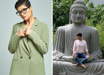 Gautam Buddha की मूर्ति पर बैठी Ayushmann Khurrana की पत्नी Tahira, ट्रोल होने पर मांगी माफी