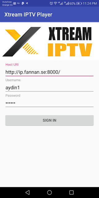 Xtream iptv player with codes activation 2018 Android