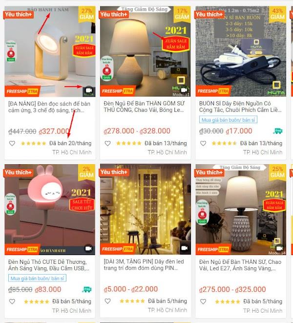 Review Shop HUTA-Light For Life bán đèn trên SHOPEE