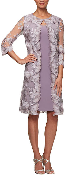 Short Purple Mother of The Groom Dresses