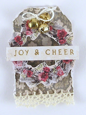 Prima Christmas in the Country Stamperia Oriental Garden Idea-Ology Tim Holtz Pine Cones For The Funkie Junkie Boutique