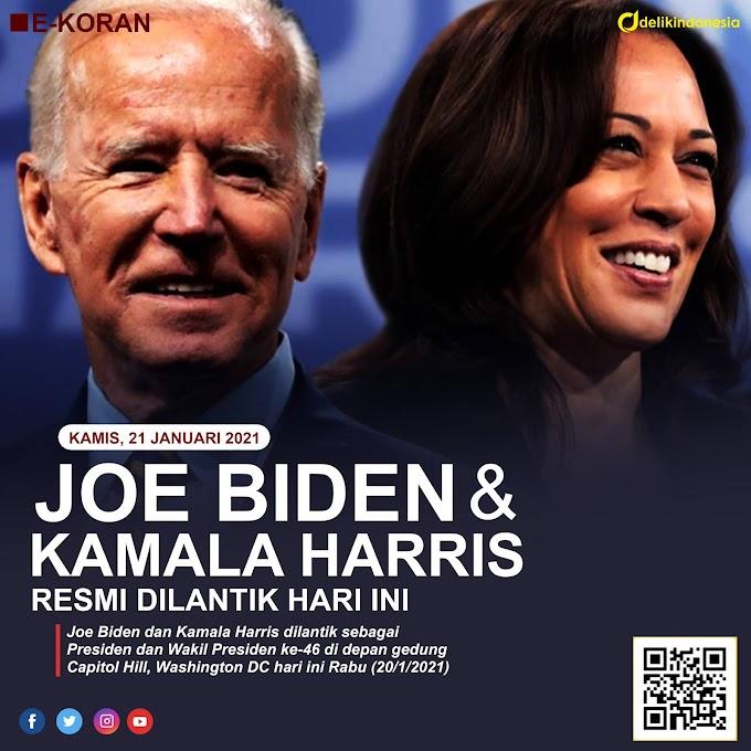 Joe Biden dan Kamala Harris di Lantik Hari Ini