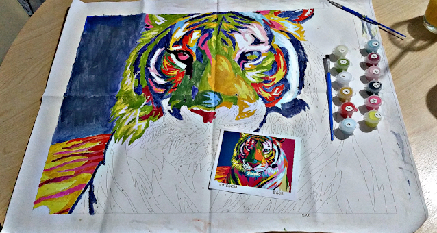 Paint by numbers tiger