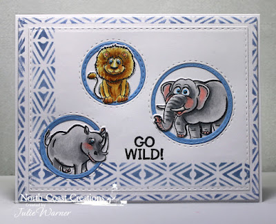 North Coast Creations Stamps & Dies: Go Wild, ODBD Custom Dies: Double Stitched Rectangles, Double Stitched Circles, Circles