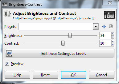 How To Create a Lomo Effect Using Gimp: Adjusting brightness and contrast