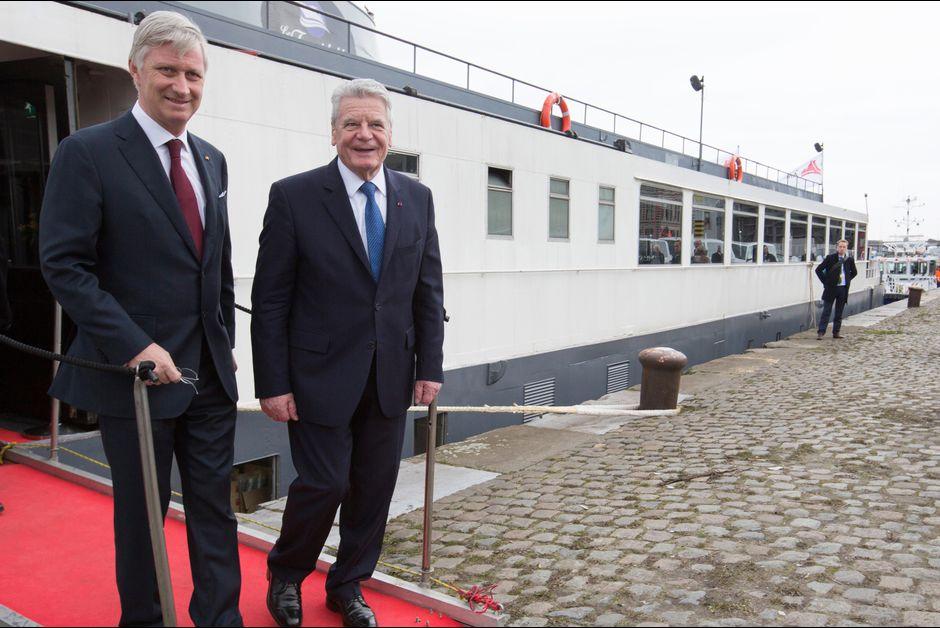 La cour royale belge jour 2 de la visite du couple president allemagne the royal courts les - Port d anvers belgique adresse ...