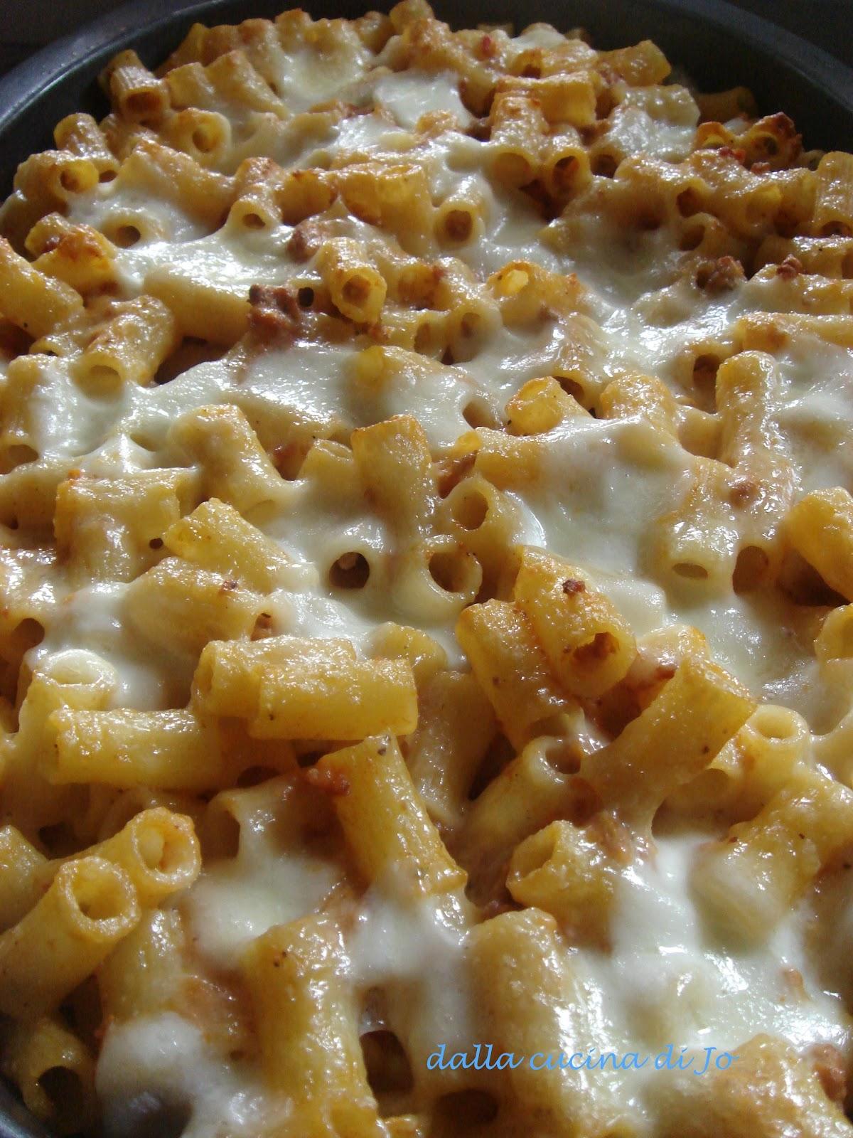 ''dalla cucina di Jo'': Pasticcio di ditali rigati al forno Ditali Pasta