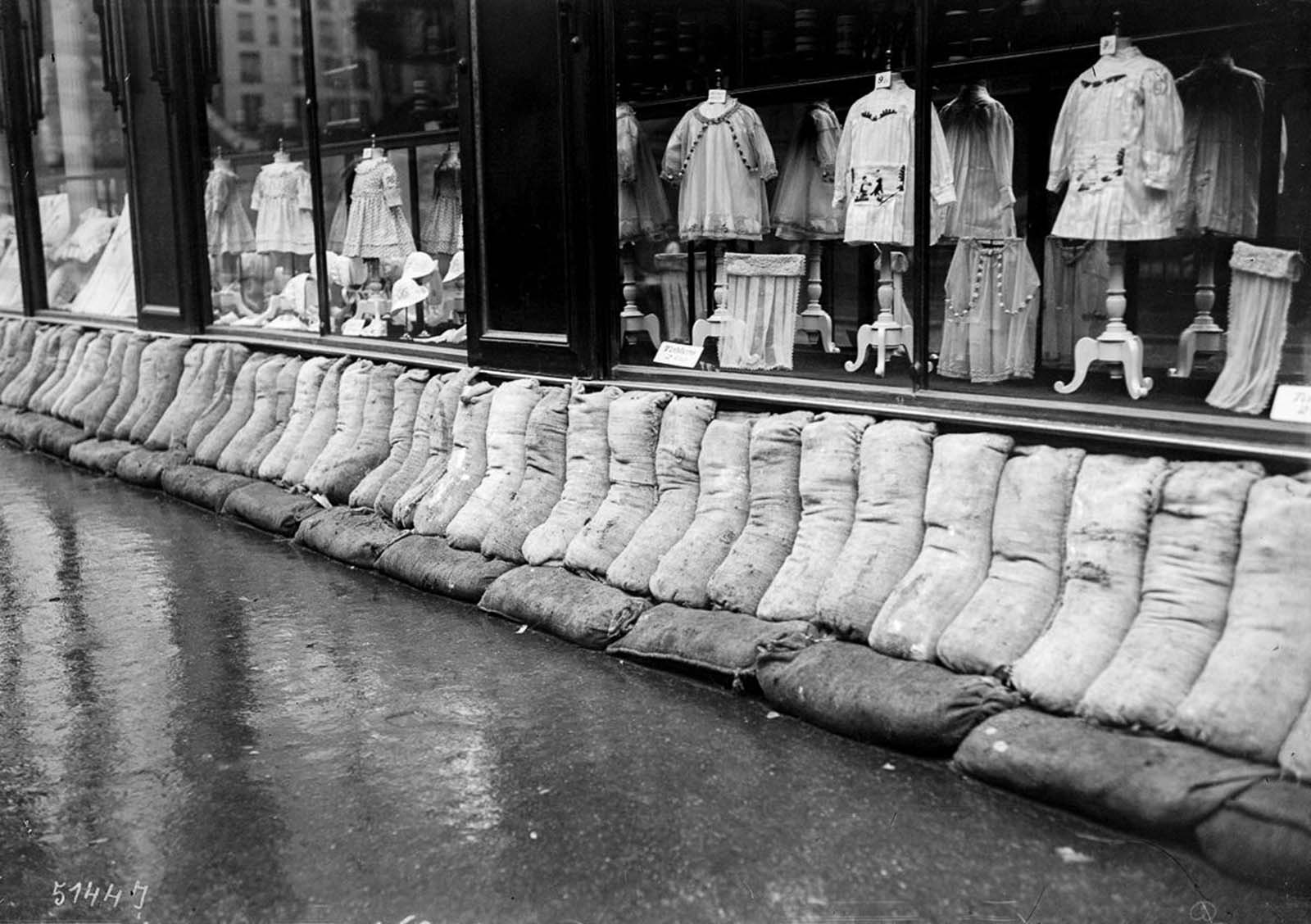 Paris protection sandbags