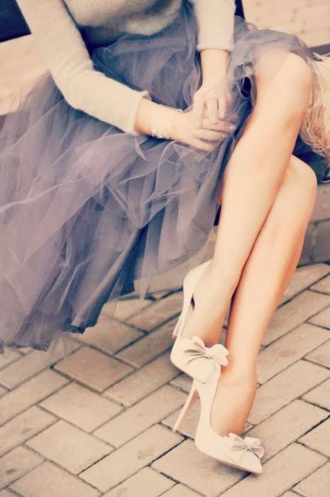 Tulle. Love the shoes too