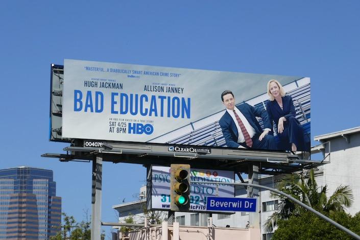 Bad Education HBO movie billboard
