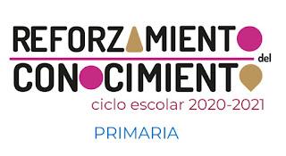 Primaria Fichas para el Reforzamiento del Conocimiento del ciclo escolar 2020-2021