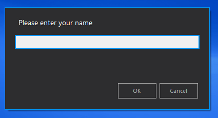 [C#] [.NET] InputBox Windows personnalisé