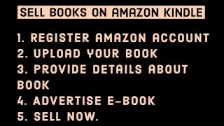 Earn by selling ebooks on amazon kindle