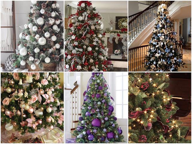 идеи как стильно украсить новогоднюю елку, какую гамму выбрать