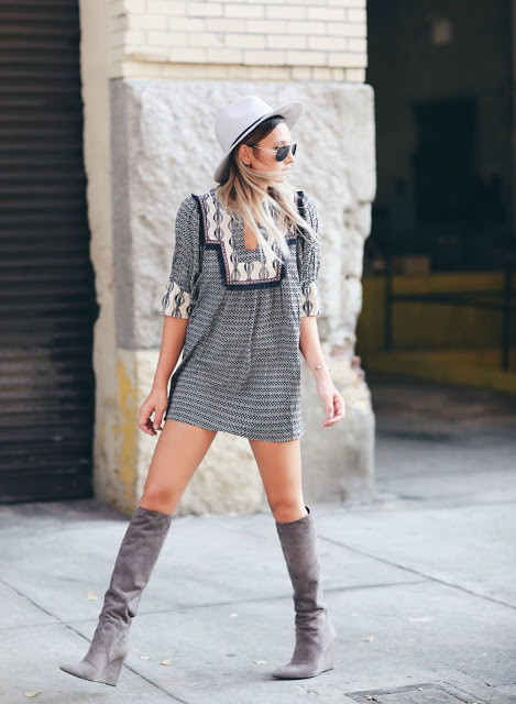 WeWoreWhat print dress labor day look