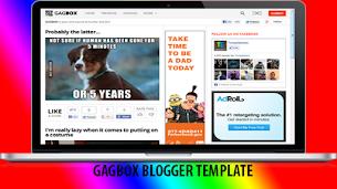 Gagbox Premium Blogger Template Original - Responsive Blogger Template