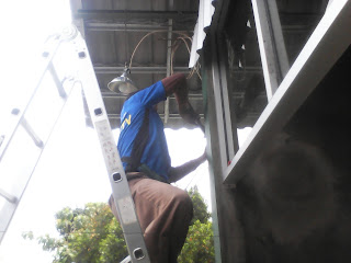 proses pasang cctv outdoor diklaten oleh arifcctv solo
