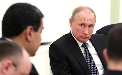 Vladimir Putin at the meeting with President of Venezuela Nicolas Maduro in the Kremlin.