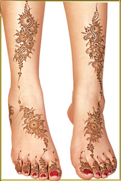 Henna Tattoo In Foot: Henna Feet Tattoo