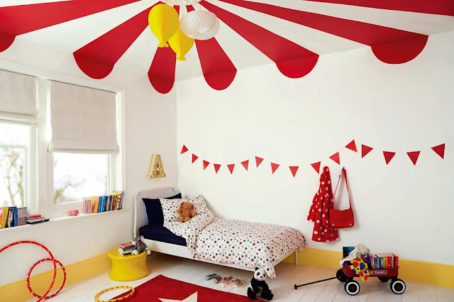 Dulux Circus Bedroom #KidsBedroom