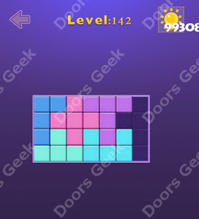 Cheats, Solutions, Walkthrough for Move Blocks Easy Level 142